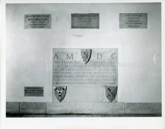 The Foundation Stone and four surrounding plaques