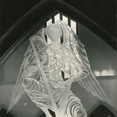 Photograph of Angel playing a Harp, John Hutton