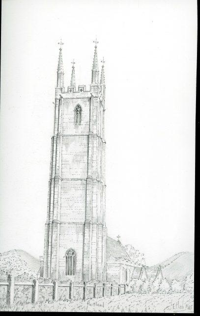 St. Nectans Church, Hartland, Devon.