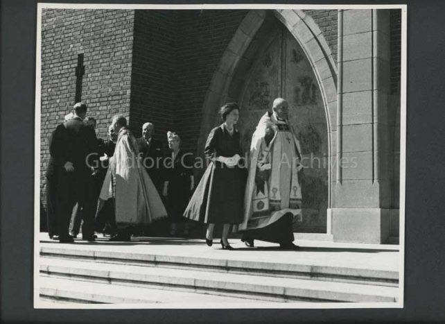H.M. with Bishop Watkins