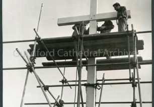 Erecting Ganges Cross