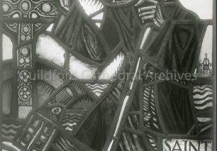 Courage (or Scotsman's) Window - upper panel Saint Columba