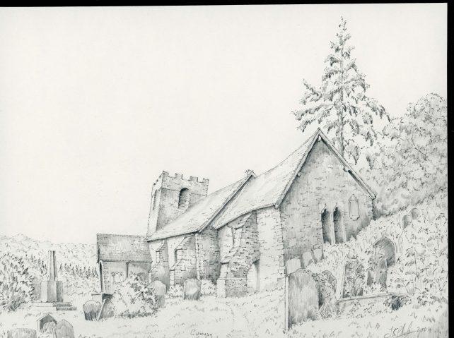 St. Martin church, Monmouthshire. Cwmyoy.