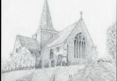 St. Andrew church, Alfriston. East Sussex.