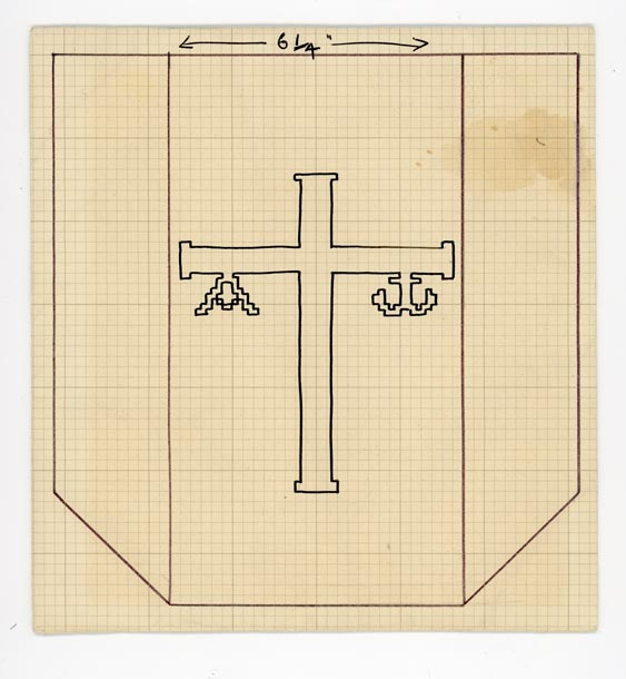 Cross with Alpha and Omega