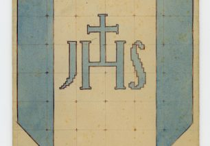 Christogram JHS cross